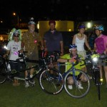 The whole crew at the Glow Ride